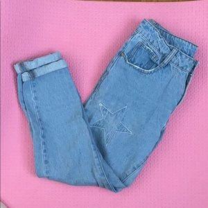 Boyfriend jeans with star patch ⭐️